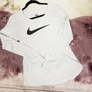 Nike long-sleeve cotton shirt
